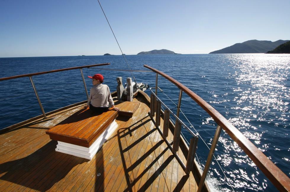 Child, Boat, Great Barrier Reef, Australia