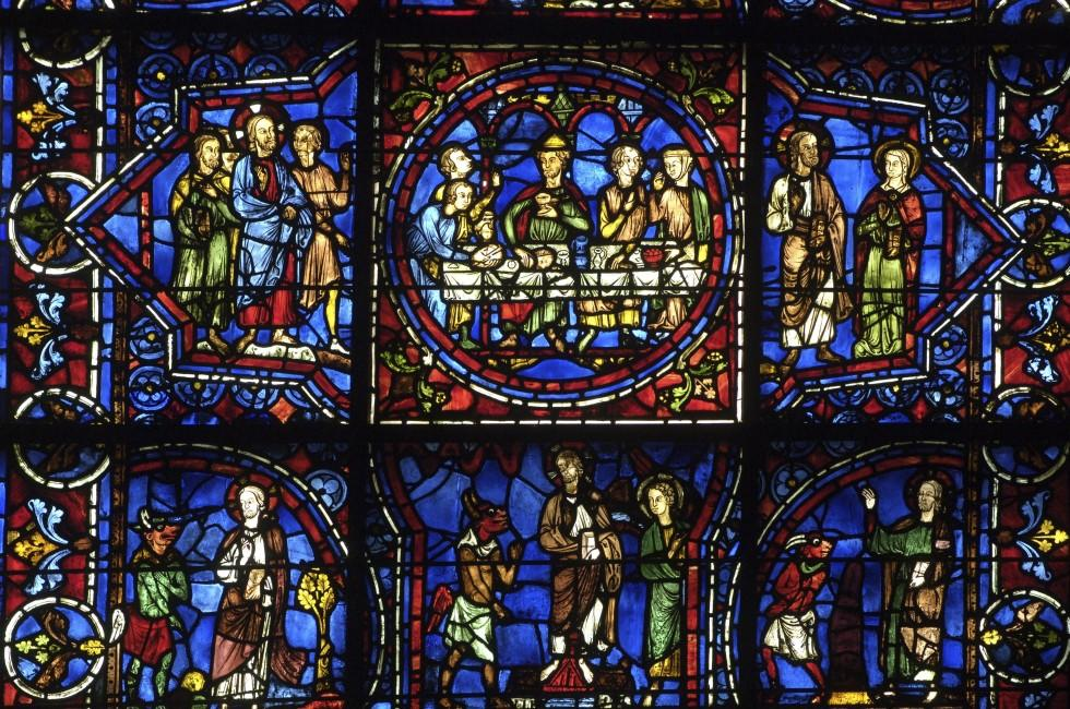 Stained Glass, Cathedral of Chartres, Ile-de-France, France,