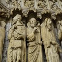 Statues, Cathedrale de Chartres, Ile-de-France, France