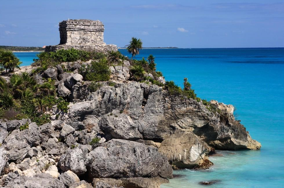 El Castillo, Tulum, The Costa Maya, Caribbean Coast, Mexico