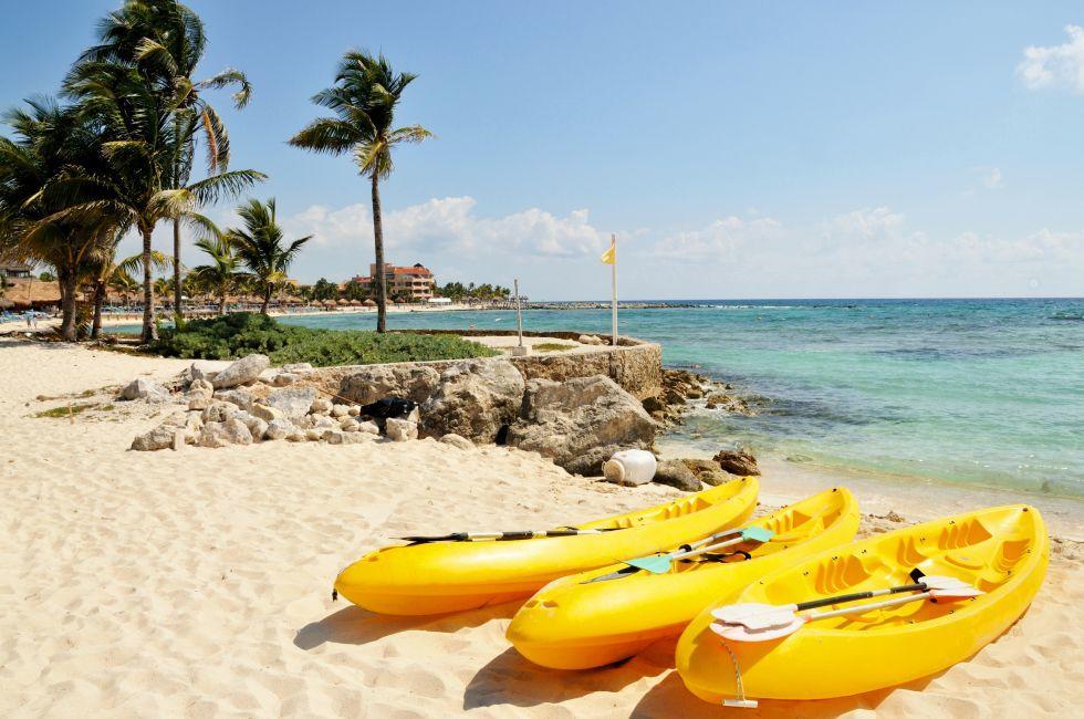 Kayaks, Riviera Maya, Mexico