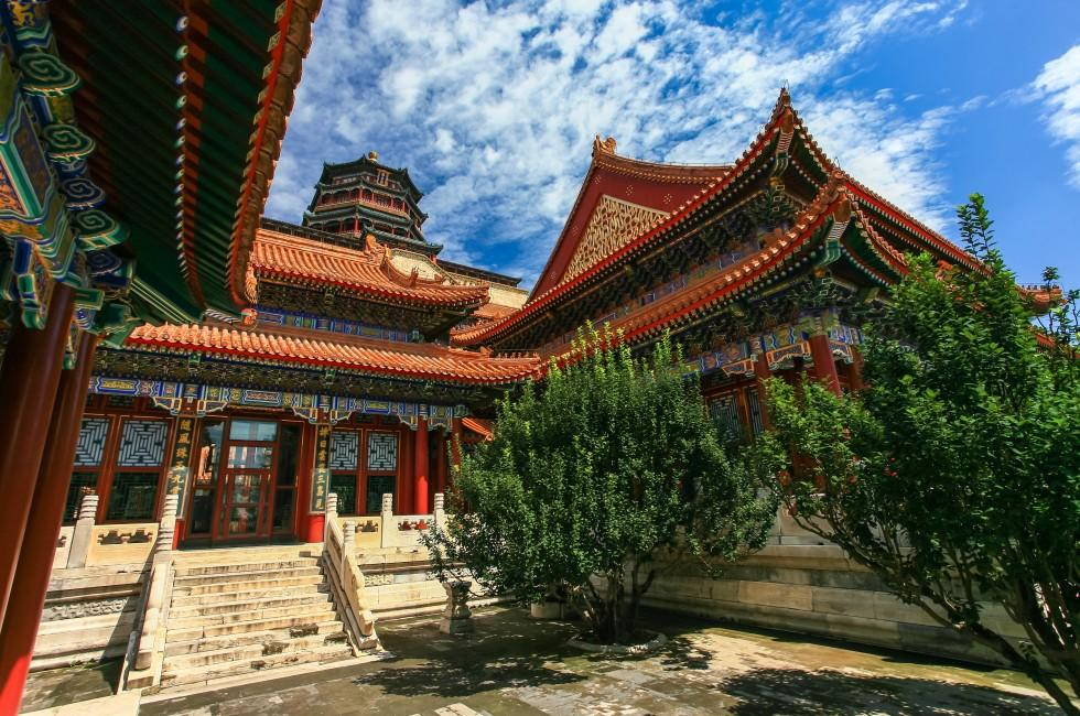 Courtyard, Garden, Summer Palace, Beijing, China