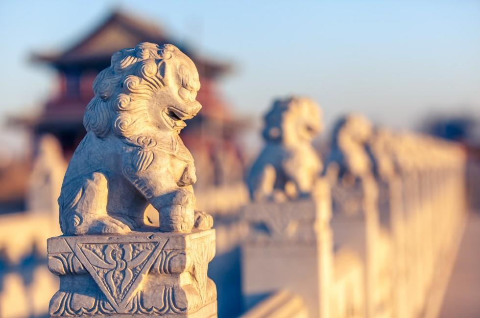 Stone Lion Sculptures, Beijing, China