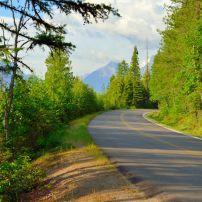 Sun Road, McDonald Lake, Glacier National Park, Montana