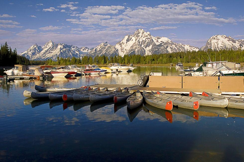 Canoes, Colter Bay, Grand Teton National Park, Wyoming