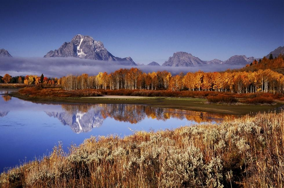 Grand Teton Mountains, Oxbow Bend, Wyoming, USA