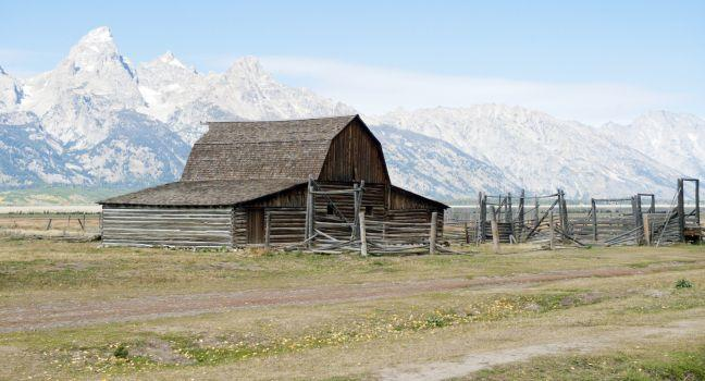 Moulton Barn, Mormon Row, Antelope Flats Road, Grand Teton National Park, Wyoming