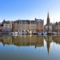 Boats, Harbor, Houses, Waterfront, Honfleur, Normandy, France