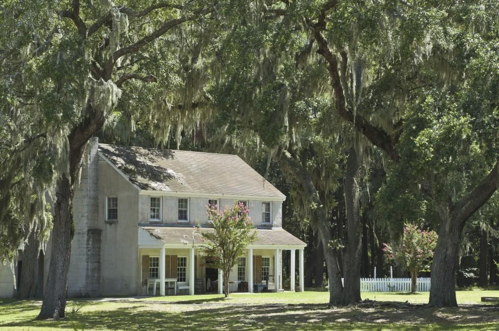 House, Fort McAllister, Savannah, Georgia, USA