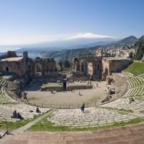 Ancient Theater of Taormina, Taormina, Sicily, Italy