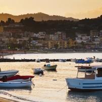 Boats, Harbor, Taormina, Sicily, Italy