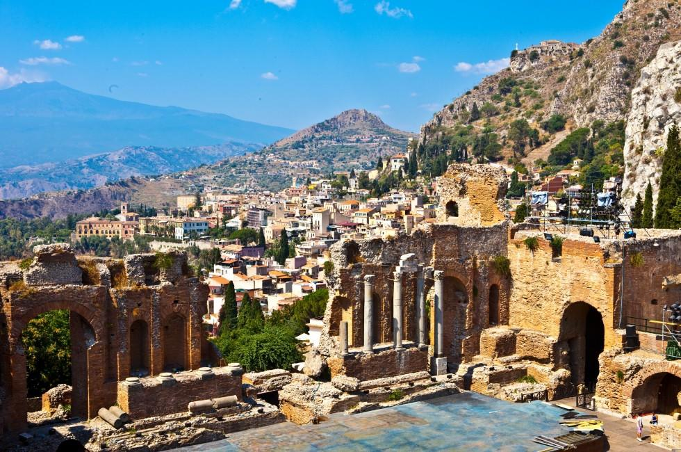 Greek Ruins, Taormina, Sicily, Italy