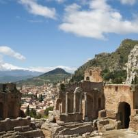 Greek Theater, Mount Etna, Taormina, Messina, Sicily, Italy