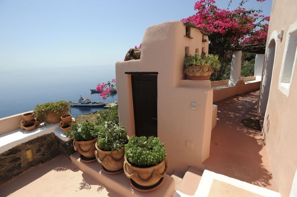 House, Garden, Alicudi, Sicily, Italy