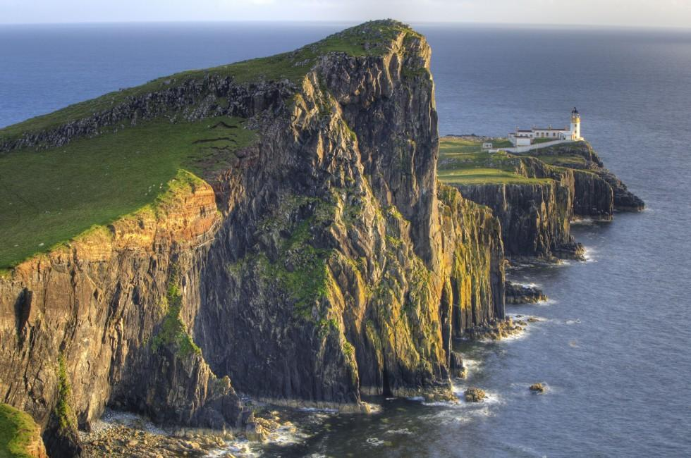 Neist Point Lighthouse, Skye, Scotland;
