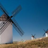 Windmill, La Mancha, Castile-Leon and Casile-La Mancha, Spain