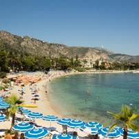 Beach, Beaulieu, The French Riviera, France
