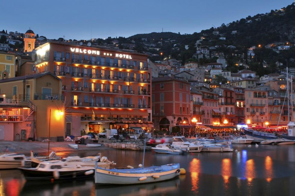 Evening, Port, Villefranche-sur-Mer, The French Riviera, France