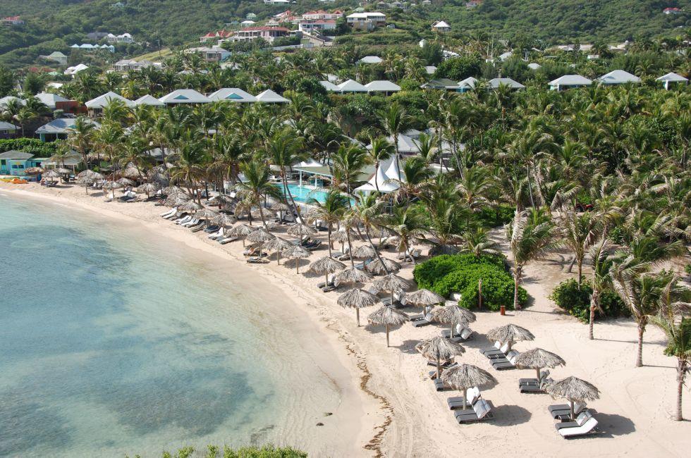 Guanahani Beach, Grand Cul-de-Sac Bay, St. Barthelemy, Caribbean