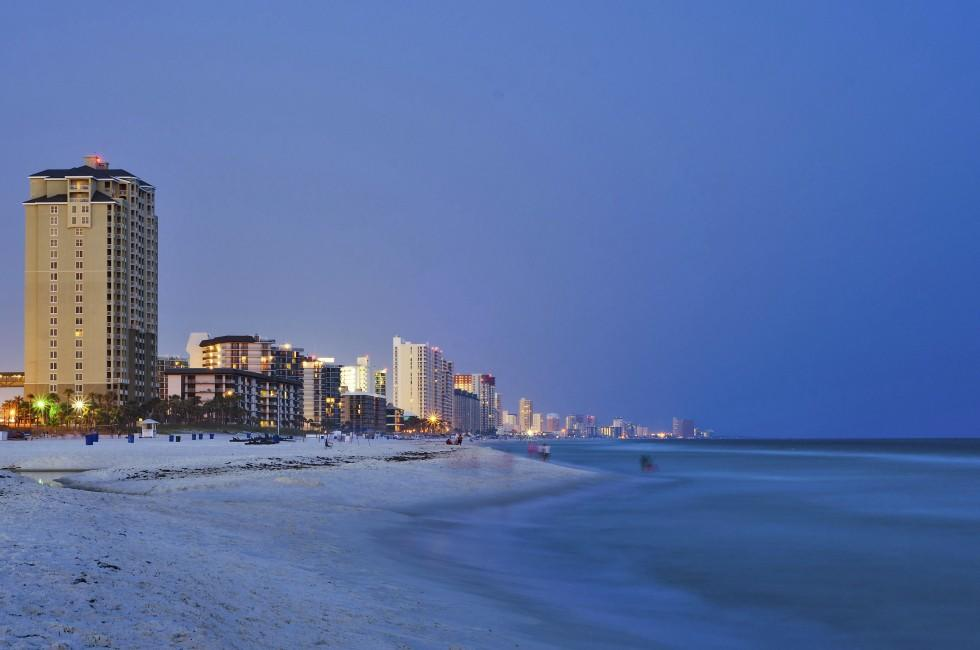 Panama City Beach, Skyline, Night, The Panhandle, Florida, USA