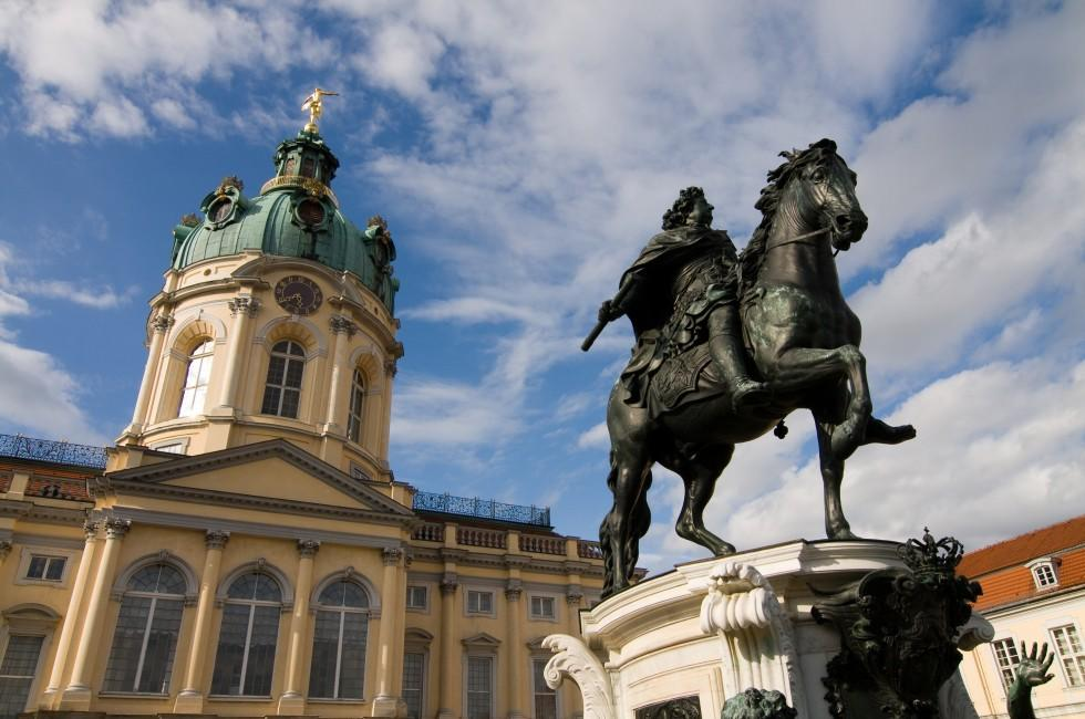 Statue, Charlottenburg Palace, Berlin,  Germany