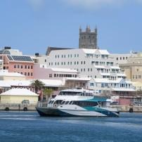 Boat, Waterfront, Downtown, Cathedral of the Most Holy Trinity, Hamilton, Bermuda