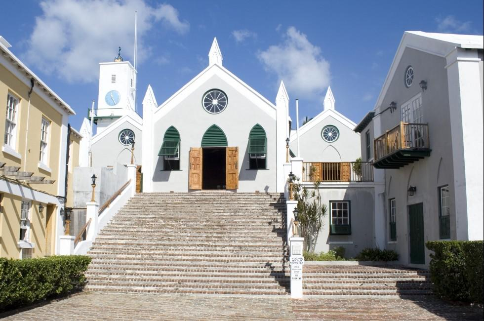 St Peter's Church, Their Majesties Chappell, St Georges, Bermuda, Caribbean