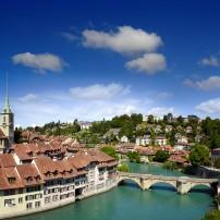 Aare River, Bridge, Bern, Switzerland,