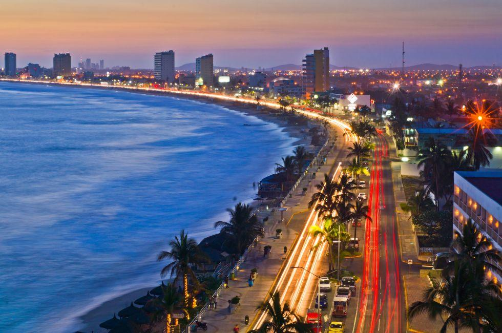 Cityscape, Coast, Sunset, Mazatlan Mexico