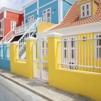 Houses, Willemstad, Curacao, Caribbean