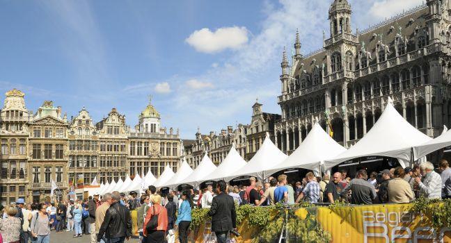 Grand Place, Belgian Beer Weekend, Brussels, Belgium,