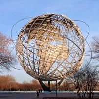 Unisphere Globe, Flushing Meadows Corona Park, Queens, New York City, New York, USA