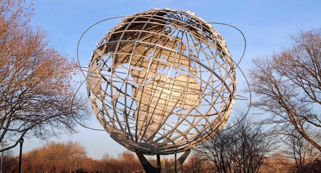 Unisphere Globe, Flushing Meadows Corona Park, Queens, New York City, New York, USA