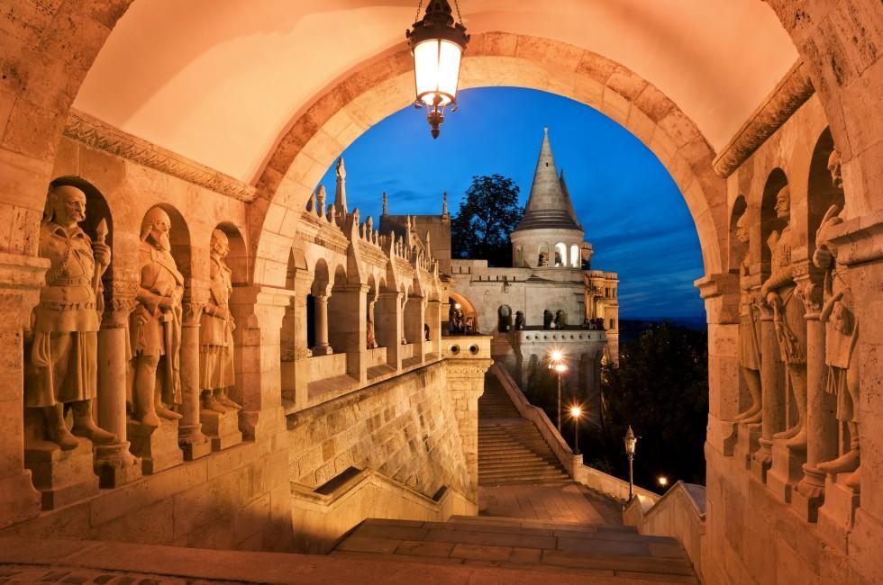 Arcade, Fisherman's Bastion, Budapest, Hungary