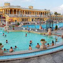 Swimmers, Szechenyi Thermal Bath, Budapest, Hungary