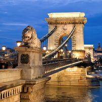 Széchenyi Lánchíd, The Chain Bridge, Budapest, Hungary, Europe