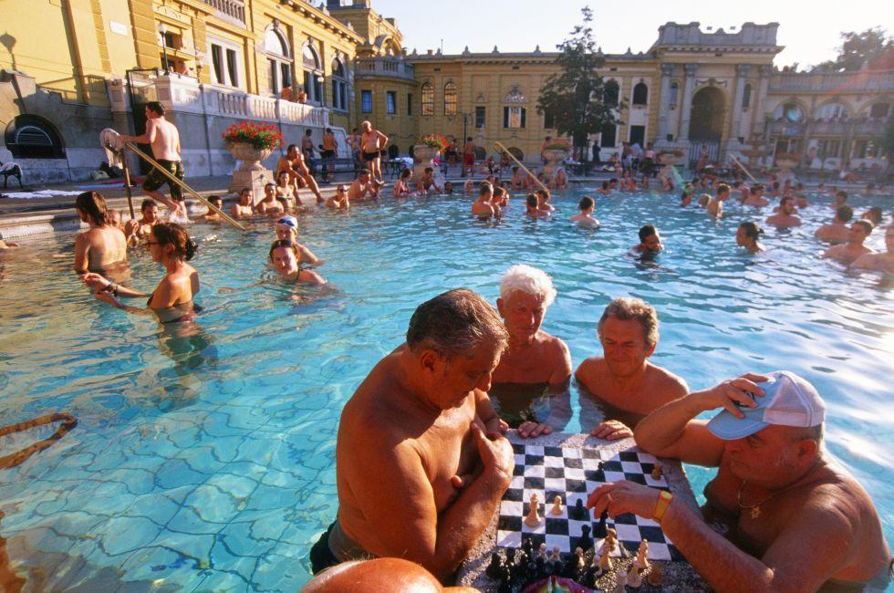 Szechenyi Thermal Bath, Budapest, Hungary