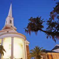 Night, Church, Tallahassee, The Panhandle, Florida, USA