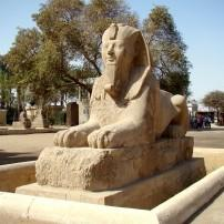 The Alabaster Sphinx, Memphis, Egypt;
