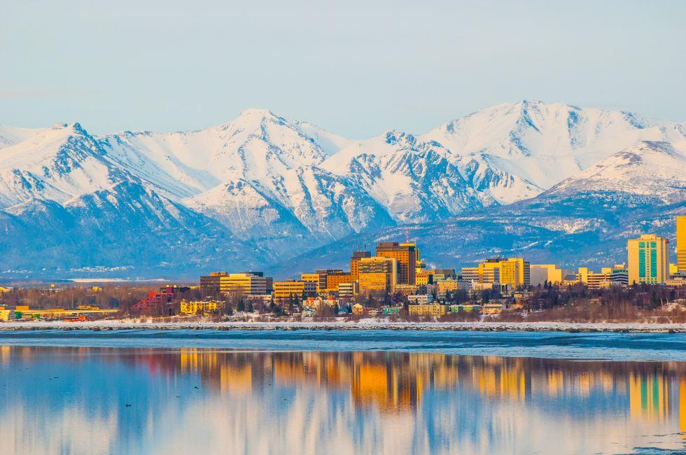 Downtown, Anchorage, Cook Inlet, Alaska, USA, North America