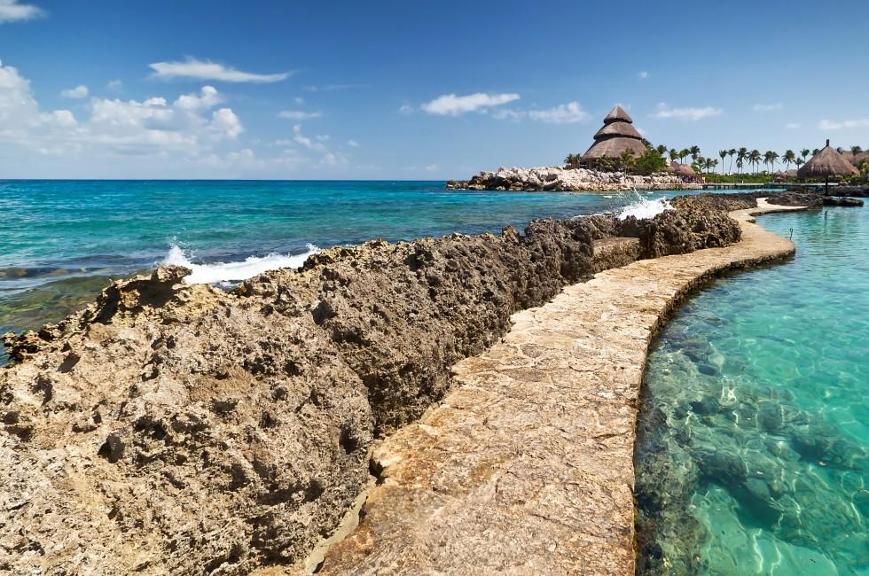 Sea Wall, Jetty, Puerto Aventuras, Carribbean Coast, Mexico