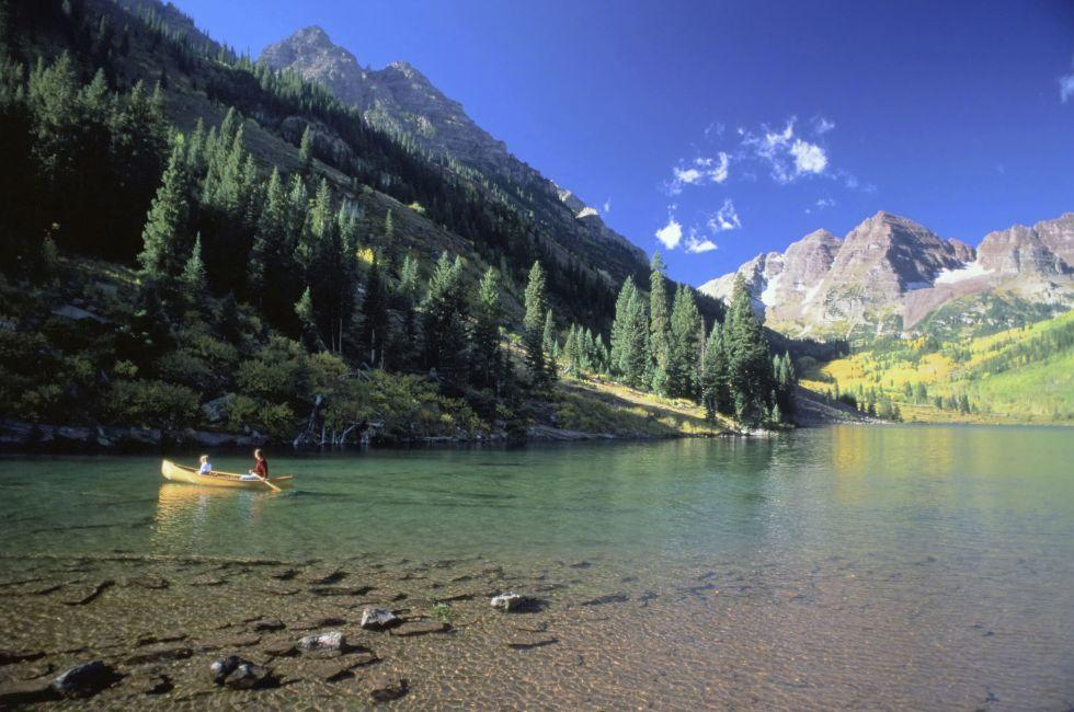 Maroon Lake, Aspen, Colorado USA