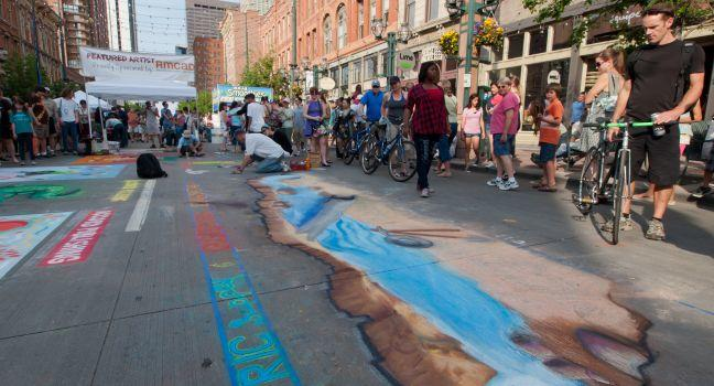 Chalk Art Festival, Larimer Square, Denver, Colorado