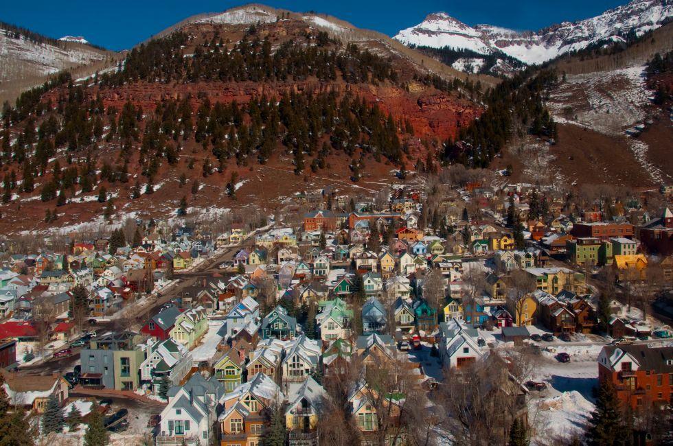 Cityscape, Mountain, Telluride, Colorado, USA