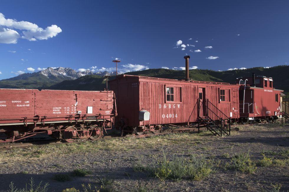 Antique Railroad Cars, Ridgway, Colorado