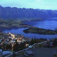 Queenstown, Dusk, The Southern Alps and Fiordland, New Zealand