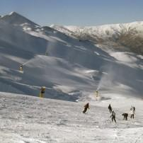 Skiers, Coronet Peak, The Southern Alps and Fiordland, New Zealand