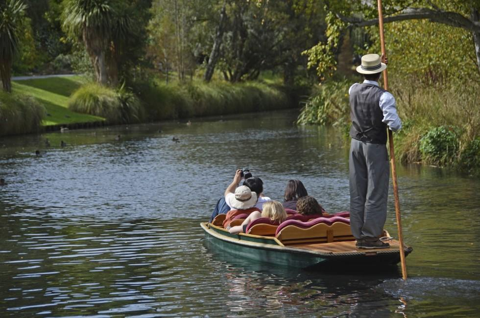 Boat, Punting, Avon River, Christchurch, New Zealand