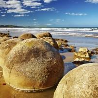 Beach, Moeraki Boulders, Upper South Island and the West Coast, New Zealand