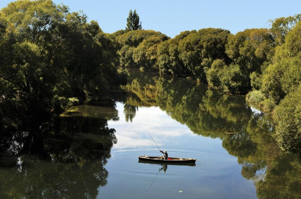 Canoe, Fishing, Upper South Island and the West Coast, New Zealand